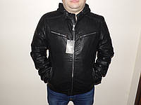 Куртка с трикотажным капюшоном.