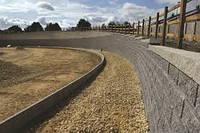 Строительство подпорной стенки из бетона