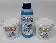 Химия для бассейна, комплект «АкваДоктор» (шок–хлор, альгицид, мультитаб)