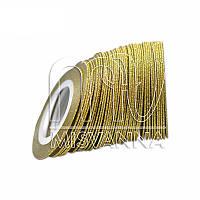 Сахарная лента-скотч для декора, 1 мм, золото