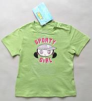 Детская летняя футболка хлопок сток на девочку италия Iana рост 92 98 2 3 года