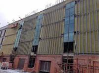 Монтаж вентилируемых фасадов с облицовкой керамогранитом