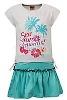 Летний комплект Glo-story юбка и футболка; 104, 116, 128 размер