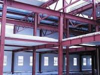 Строительство зданий на комбинированных каркасах из сварных двутавров и оцинкованых профилей