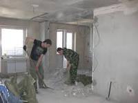 Демонтаж стен и пола в квартире