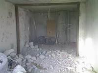 Демонтаж стен, полов, кафеля, кирпича, бетона Днепропетровск