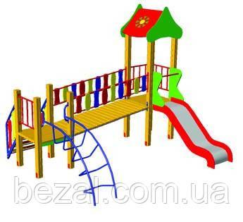 """Детский игровой комплекс """"Мостик"""" БК-701М - ТМ BEZAL (ТМ Безал) в Запорожье"""