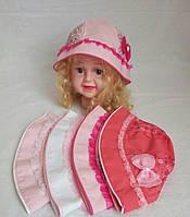 Панамка с вставками украшений для девочки р-ры 1-2 года оптом