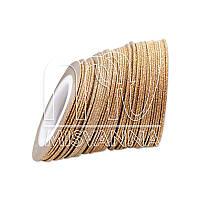 Сахарная лента-скотч для декора, 1 мм, бронза