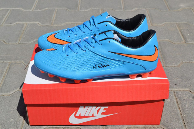 Футбольные бутсы Nike Hypervenom Phelon AG Blue/Orange/Black