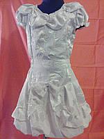 Белое нарядное платье 6-8 лет