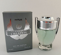 Мужской парфюм Paco Rabanne Invictus Man 25 ml (аналог брендовых духов). Мини-парфюмерия Kreasyon Creation