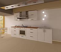 Кухонный не дорогой, компактный комплект для малогабаритных квартир по доступной цене Лаура МДФ