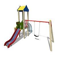 Детские игровой комплекс Гном с качелей БК-703ГН1