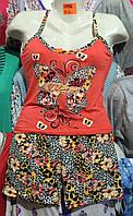 Женская котоновая пижама (р.M-2XL)