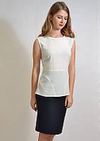 Модная летняя блузка деловой стиль 7501 MEES Турция, фото 1