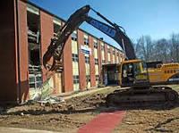 Демонтаж домов, кирпичных и бетонных стен, металлических конструкций с вывозом