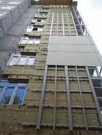 Монтаж утепленного навесного вентилируемого фасада с подсистемой