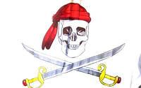 Пиратский флаг бутафорный