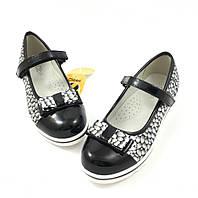 Школьные туфли для девочки Clibee Модница, черные (р.32,34,35)