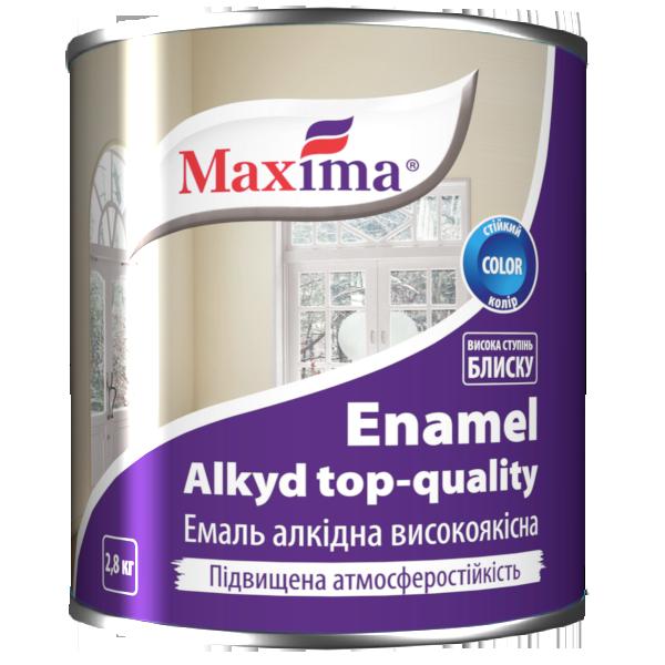 """Эмаль алкидная высококачественная TM """"Maxima"""" (черная) 2,8 кг"""