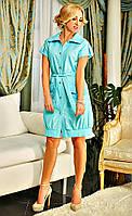 Легкое платье с накладными карманами