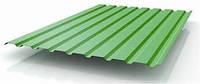 Профлист 20 толщина 0,55мм с полимером оцинкованый RAL 6037 Зелёный