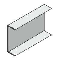 Профиль (у) U-образный  высота- 150   полочка - 40, лстк