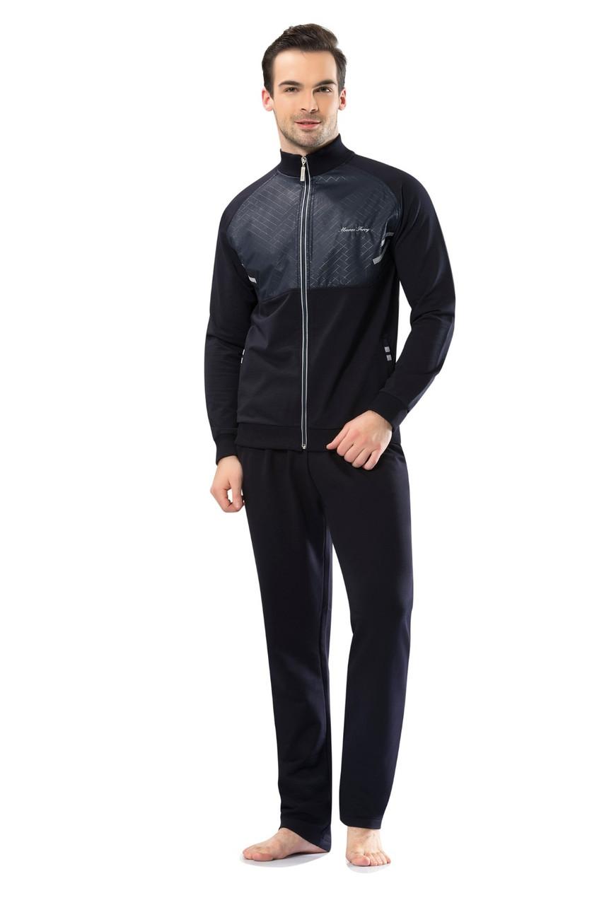 Трикотажний чоловічий темно-синій спортивний костюм пр-під Туреччина FM17404-2