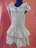 Белое нарядное платье на девочку 6 - 9 лет