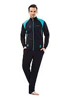 Трикотажный мужской темно-синий спортивный костюм пр-во Турция FM17405-2