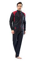 Трикотажный мужской антрацит спортивный костюм пр-во Турция FM17405-3