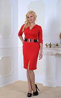 Женское платье Сара  красивое, элегантное, женственное  размер  44, 46, 48, 50, 52, 54, 56 красное