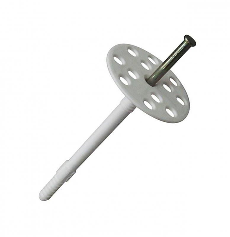 Дюбель для теплоизоляции с металлическим гвоздем 10 * 80