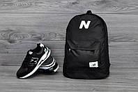 Городской рюкзак New Balance черный! Топовое качество!