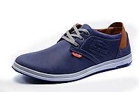 Туфли мужские спортивные Clarks, натуральная кожа, синие, р. 40