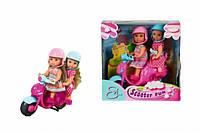 "Детская кукла игрушка ""Scooter Fun"" ""Веселое путешествие на скутере"" Evi Еви"