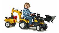 Трактор детский на педалях с двумя ковшами 2-5 лет Falk 2055CN