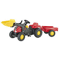 Детский Трактор педальный с прицепом и ковшом Rolly Toys 23127