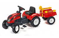 Трактор детский на педалях с Прицепом Ranch Falk 2051C