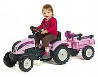 Трактор детский на педалях с Прицепом Princess Falk 2056C