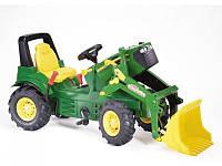 Трактор детский на педалях с Ковшом John Deere Rolly Toys 710126