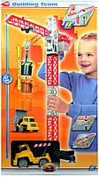 Детская игрушка машинка Кран строительный на батарейках Dickie