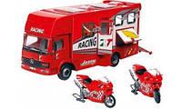 Детская игрушка машинка  Автотранспортер и 2 мотоцикла Dickie