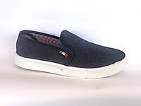 Мужские мокасины джинсовый SV-1