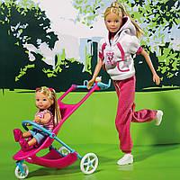 Steffi и Evi набор спортивный стиль Simba Кукла Штеффи и Еви