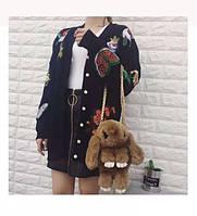 Рюкзак-сумка из натурального меха в виде кролика (цвета в ассортименте)