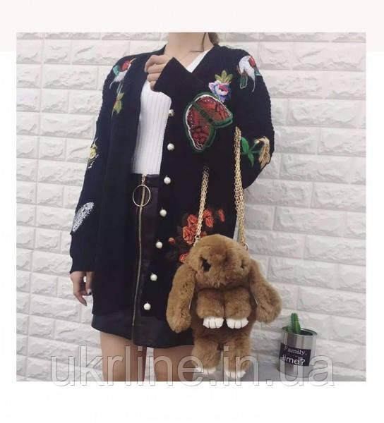 Рюкзак-сумка из натурального меха в виде кролика (цвета в ассортименте) - Интернет-магазин UkrLine в Киеве