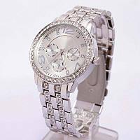 Женские часы серебряные ,браслет с камушками