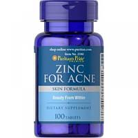 Zinc for Acne Puritan's Pride, 100 таблеток